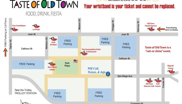 Old Town Map 101 Things To Do In San Diego