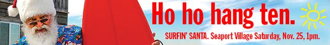 Seaport Village Surfing Santa 728 x 90
