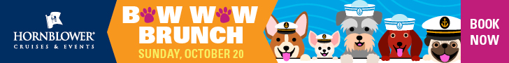 Hornblower Cruises 2019 Bow Wow Wow Brunch 728 x 90